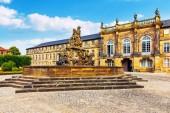 Fotografie Schönen Sommer Blick auf die Altstadt-Architektur in Bayreuth, Bayern, Deutschland