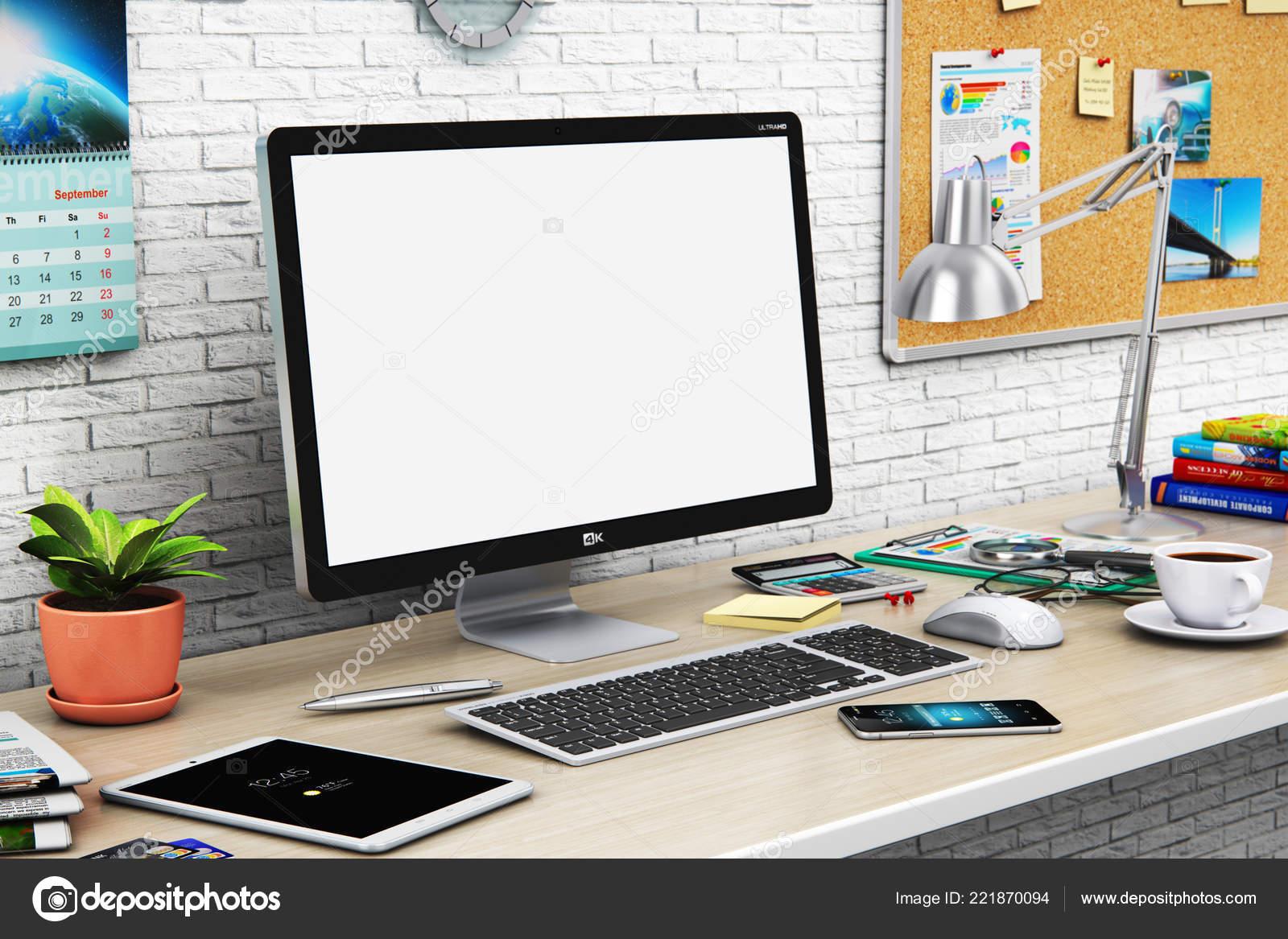 Abstrait créatif render illustration une entreprise bureau moderne
