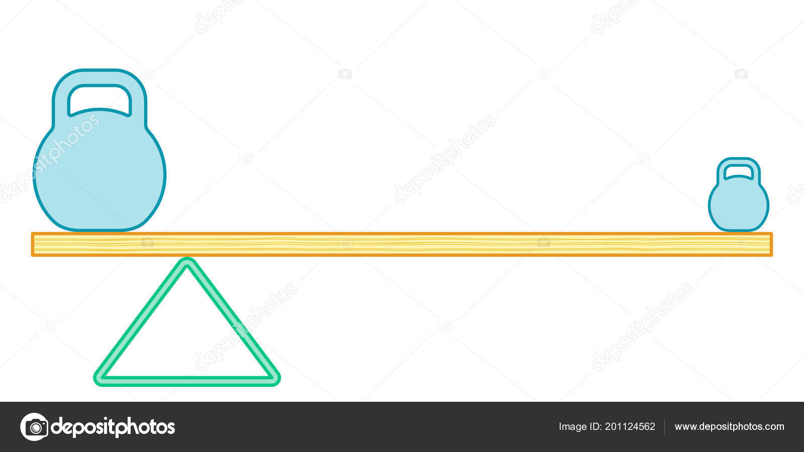 Illustration Of The Simple Lever Beam Balance Vector By AlexanderZam