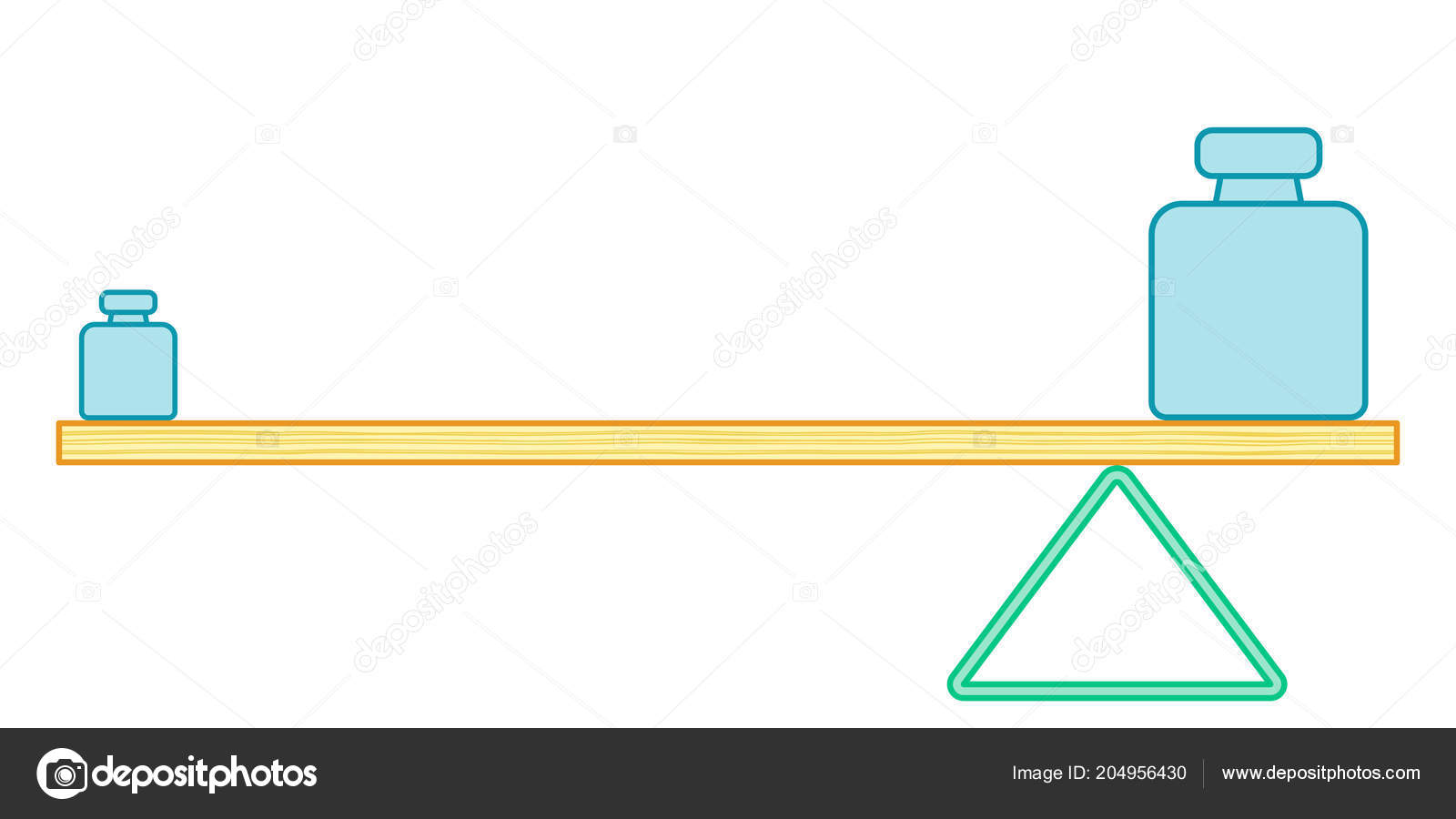 Illustration Of The Simple Lever Balance Vector By AlexanderZam