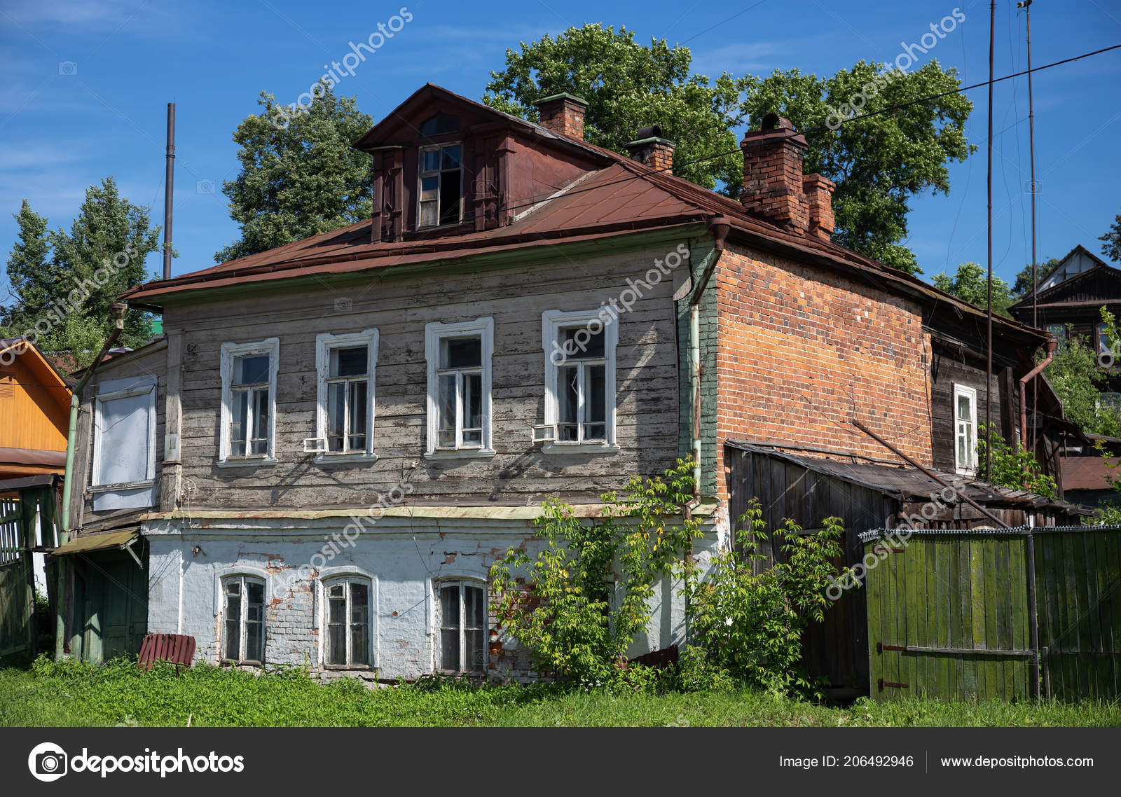 Typical Old House Small Town Russia Stock Photo C Observer