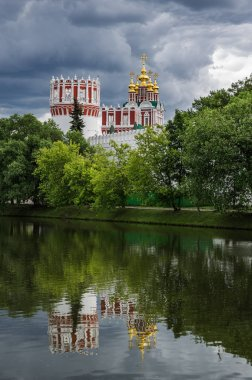 Picturesque view of the Novodevichy Convent in Moscow, Russia