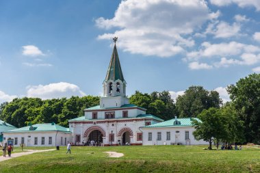 MOSCOW, RUSSIA - June 18, 2018: Church of the Ascension in The Landscape Museum-Reserve Kolomenskoye