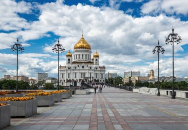 MOSCOW, RUSSIA - June 9, 2018: Cathedral of Christ the Savior in Moscow.