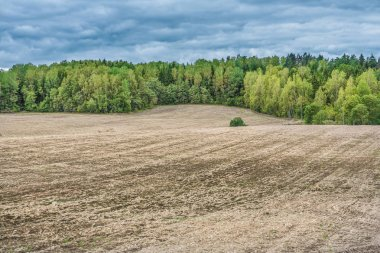 agricultural countryside rural view ploughed field and soil