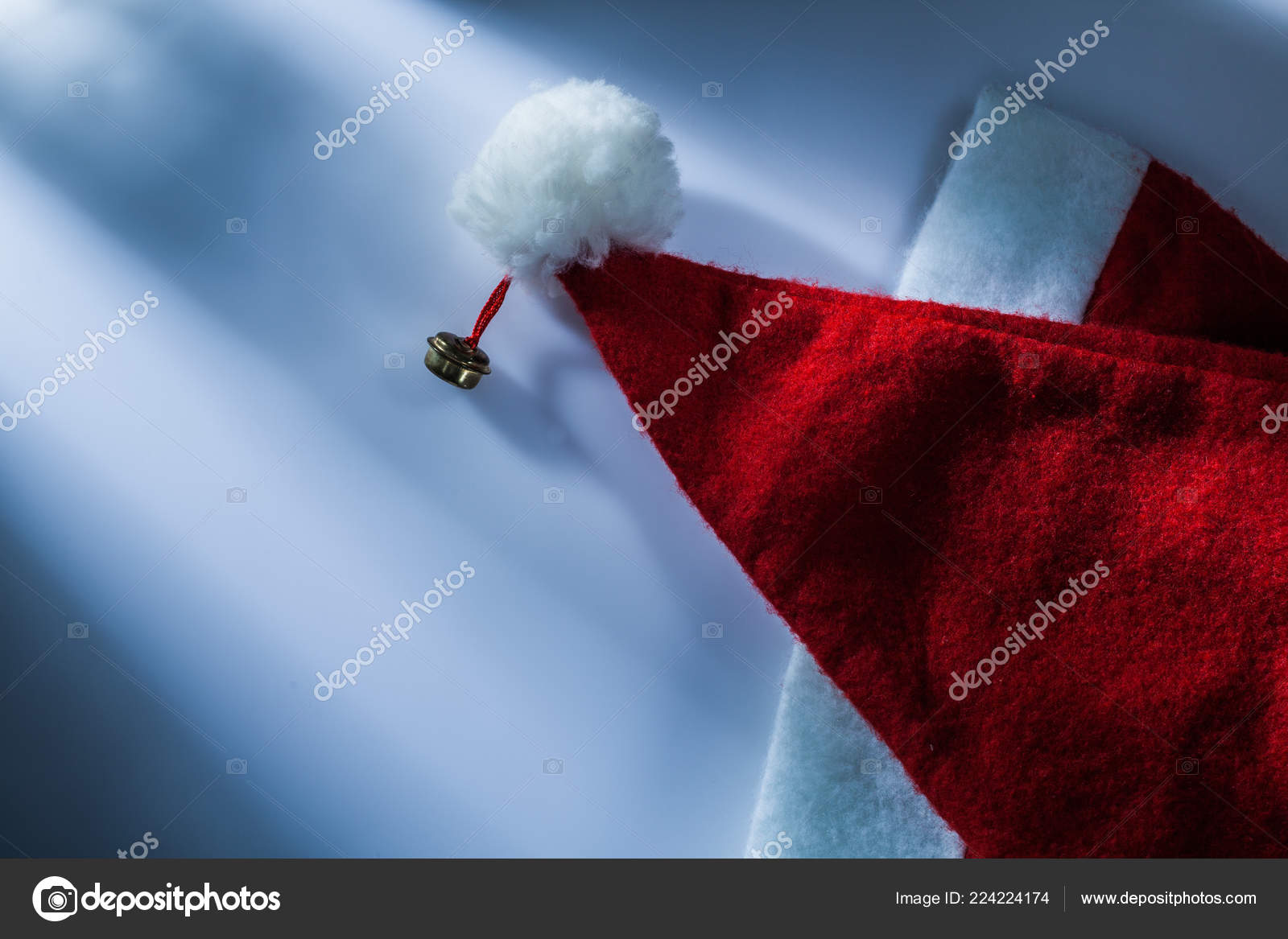 e2022491f7c94 Christmas Santa Hat White Surface — Stock Photo © mihalec  224224174