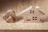 Holzspielzeug Haus und Herden