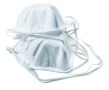 Safety filter fiber masks isolated on white stock vector