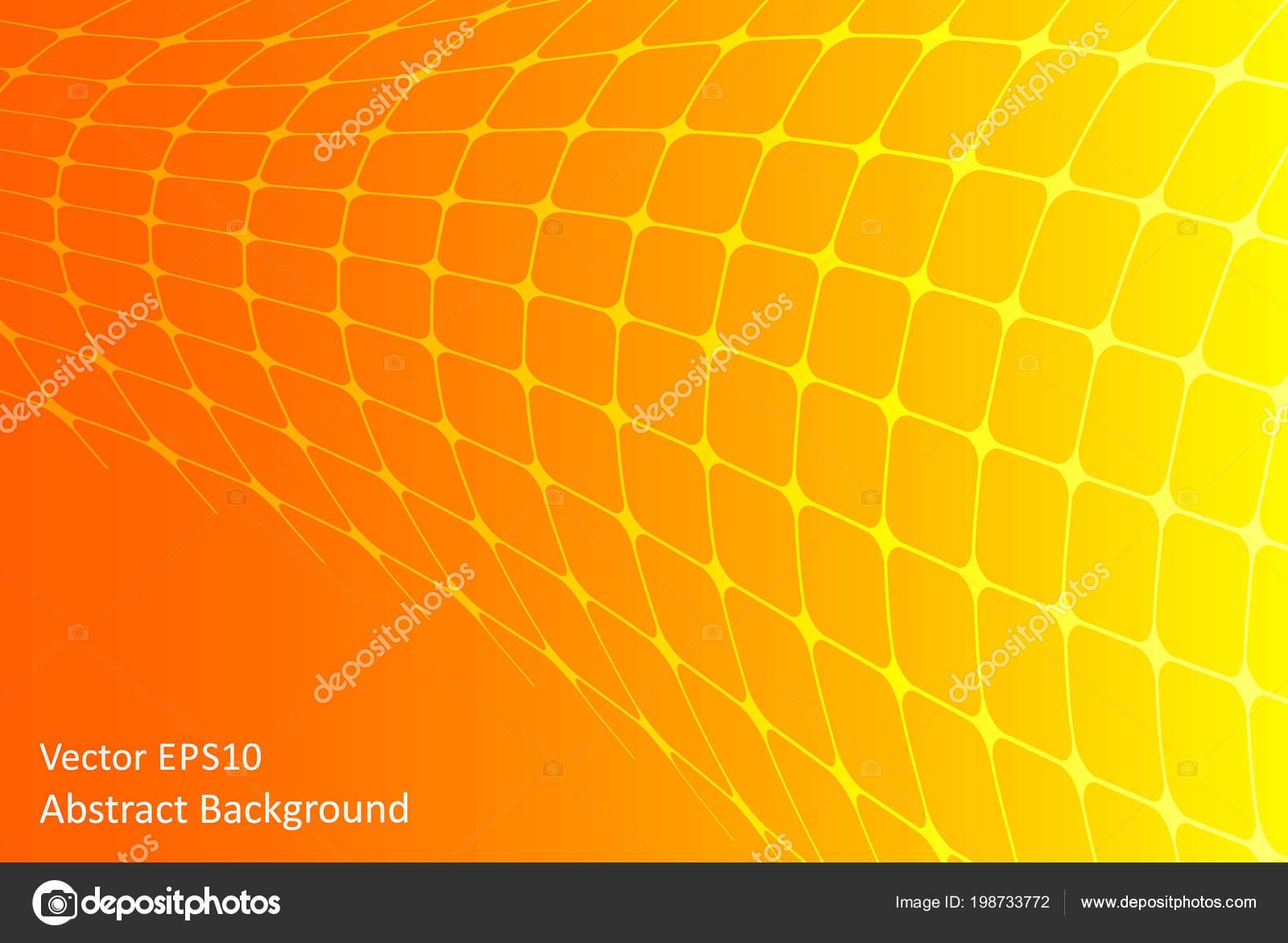 Yellow Orange Vector Background Abstract Tube Shape Stock