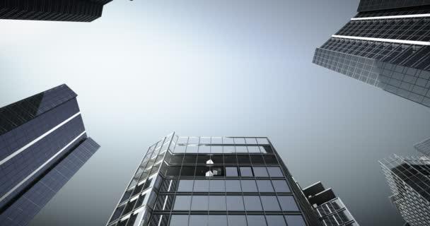 Mrakodrapy stavební město vyrůstat timelapse animaci. Obchodní centrum. Město. 4 k uhd. Animace ze stavební činnosti mrakodrapů. čas zanikla město pěstování