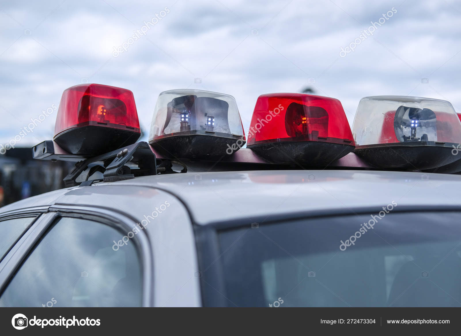 Image Light Bar Police Car Stock Photo C Uatp12 272473304