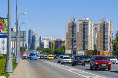 Moscow, Russia - May, 19, 2019: traffic in Moscow