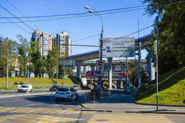 Moscow, Russia - August, 28, 2019: traffic in Moscow, Russia on Zvenigorod prospect