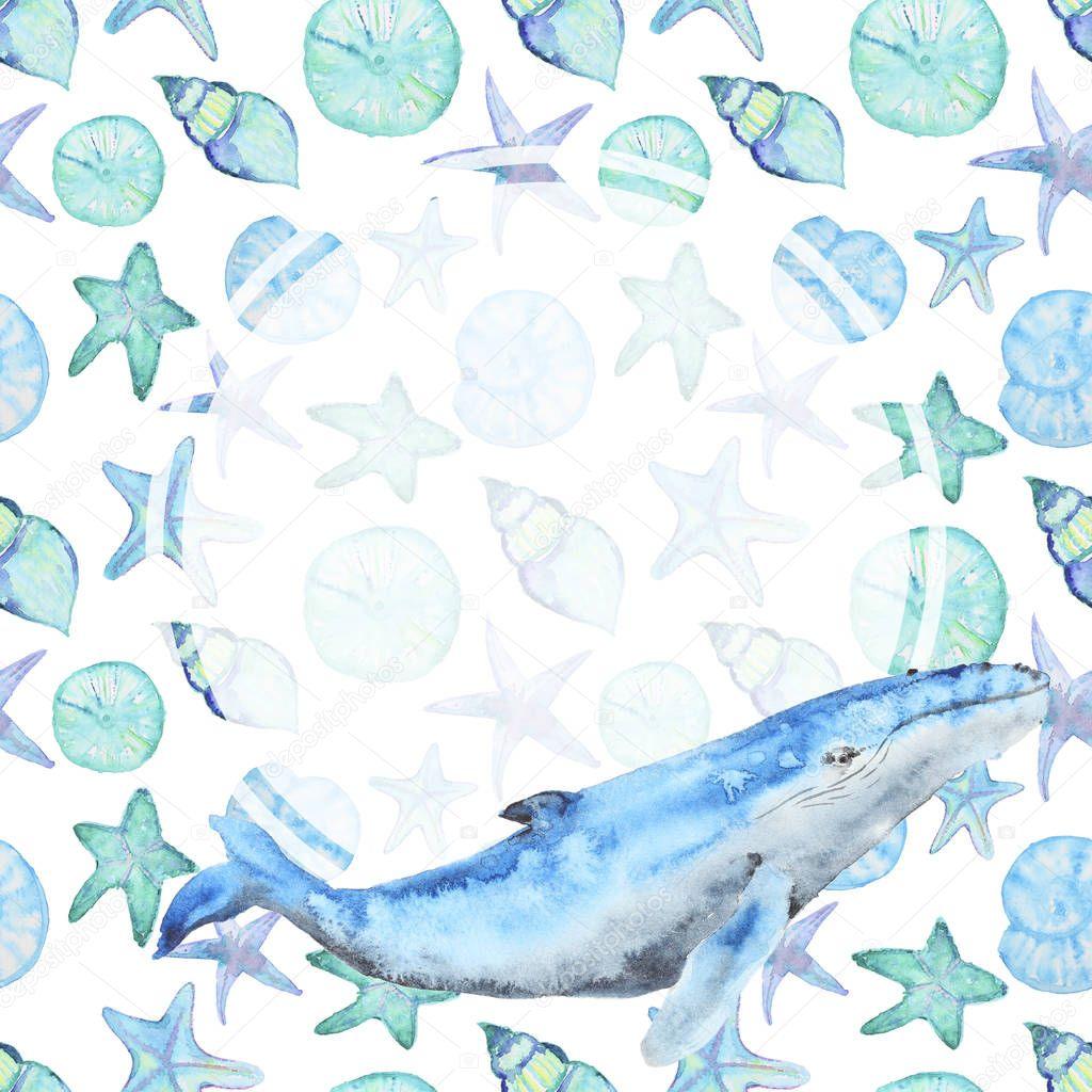Watercolor template card