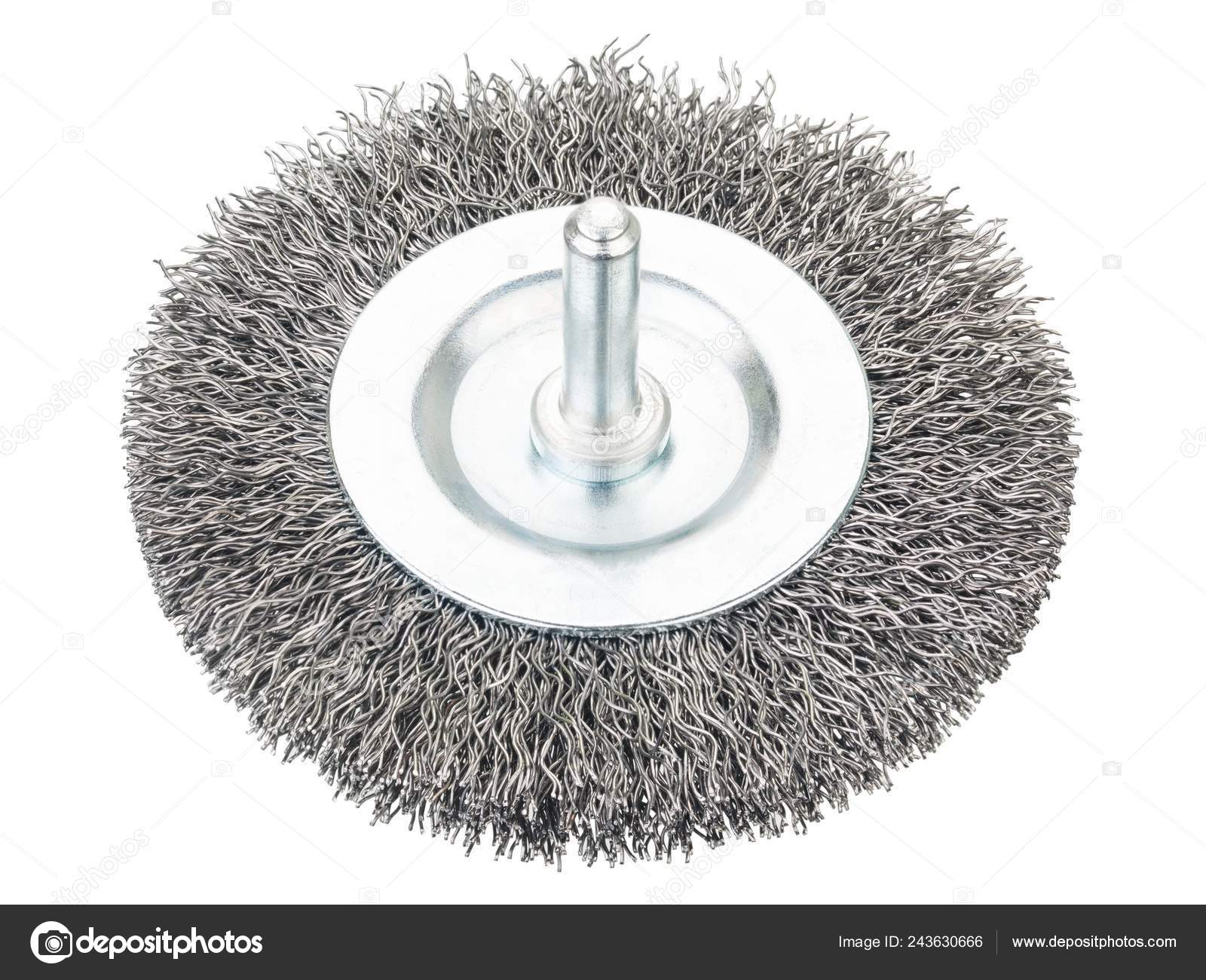 Wondrous Crimped Wire Bench Grinder Wheel On White Stock Photo Andrewgaddart Wooden Chair Designs For Living Room Andrewgaddartcom