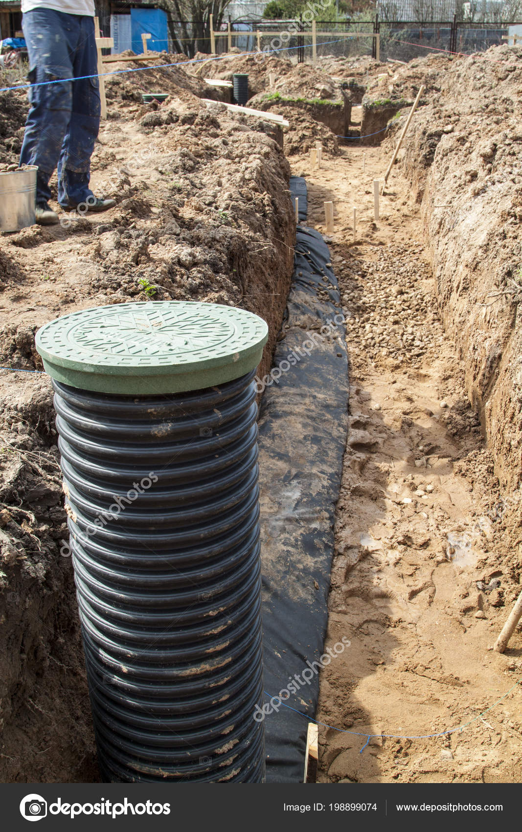 View Drainage Pipes Inspection Well Removal Water Site