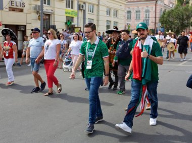 Russia, Rostov-on-Don - June 23, 2018: Mexican fans before the match South Korea - Mexico. World Cup 2018 in Russia
