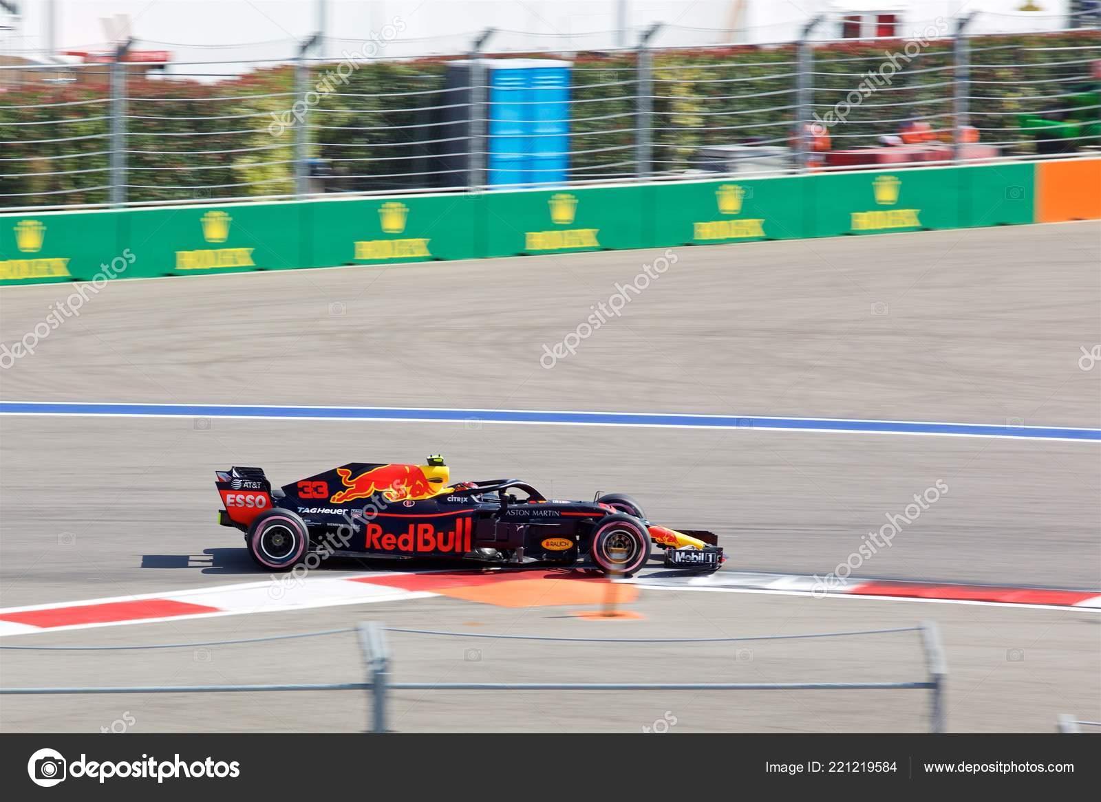 Sochi Russia Setembro 2018 Max Verstappen Aston Martin Red Bull Fotografia De Stock Editorial C Payee 221219584