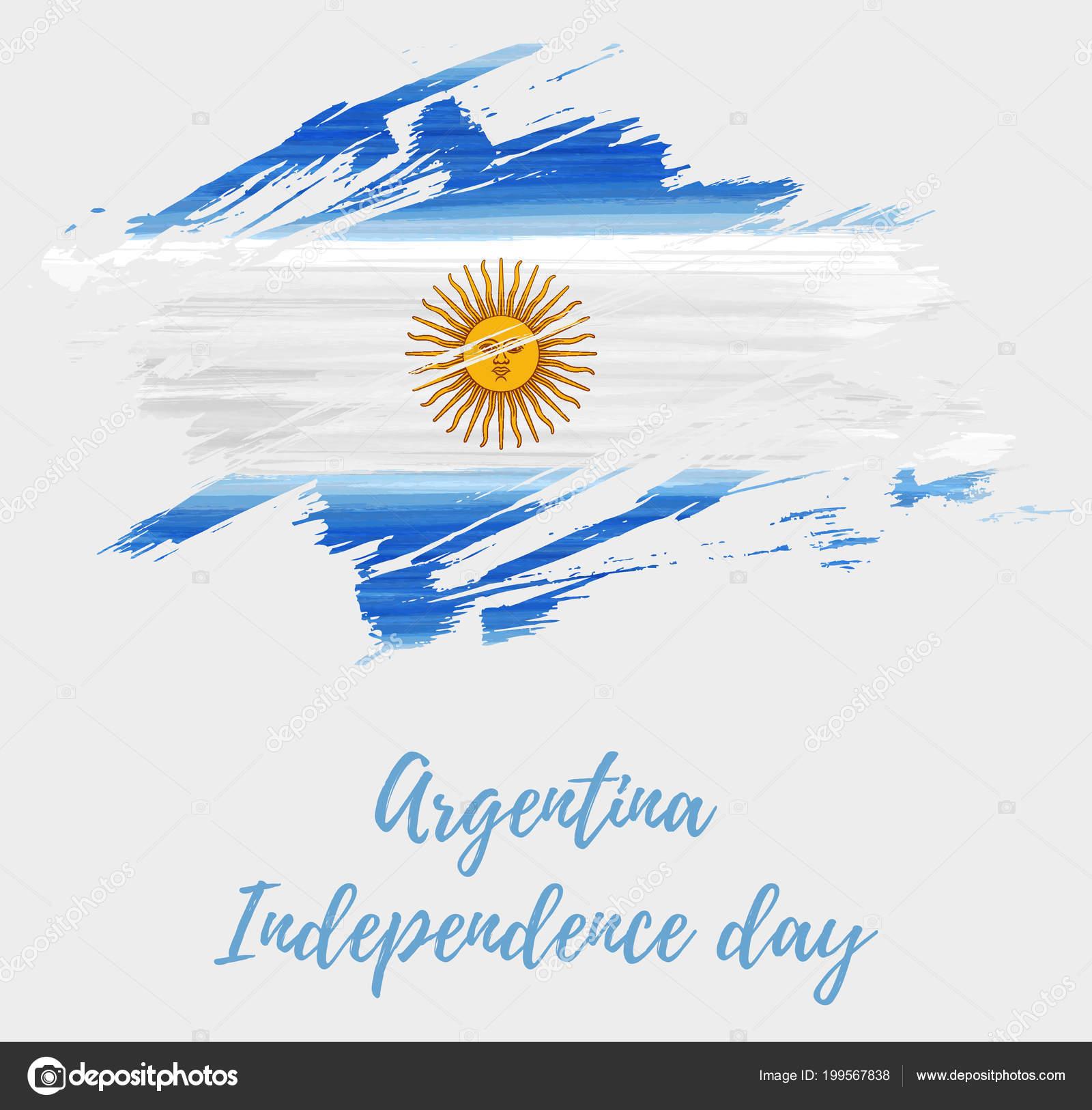 Fundo Férias Dia Independência Argentina Grunge Abstrato