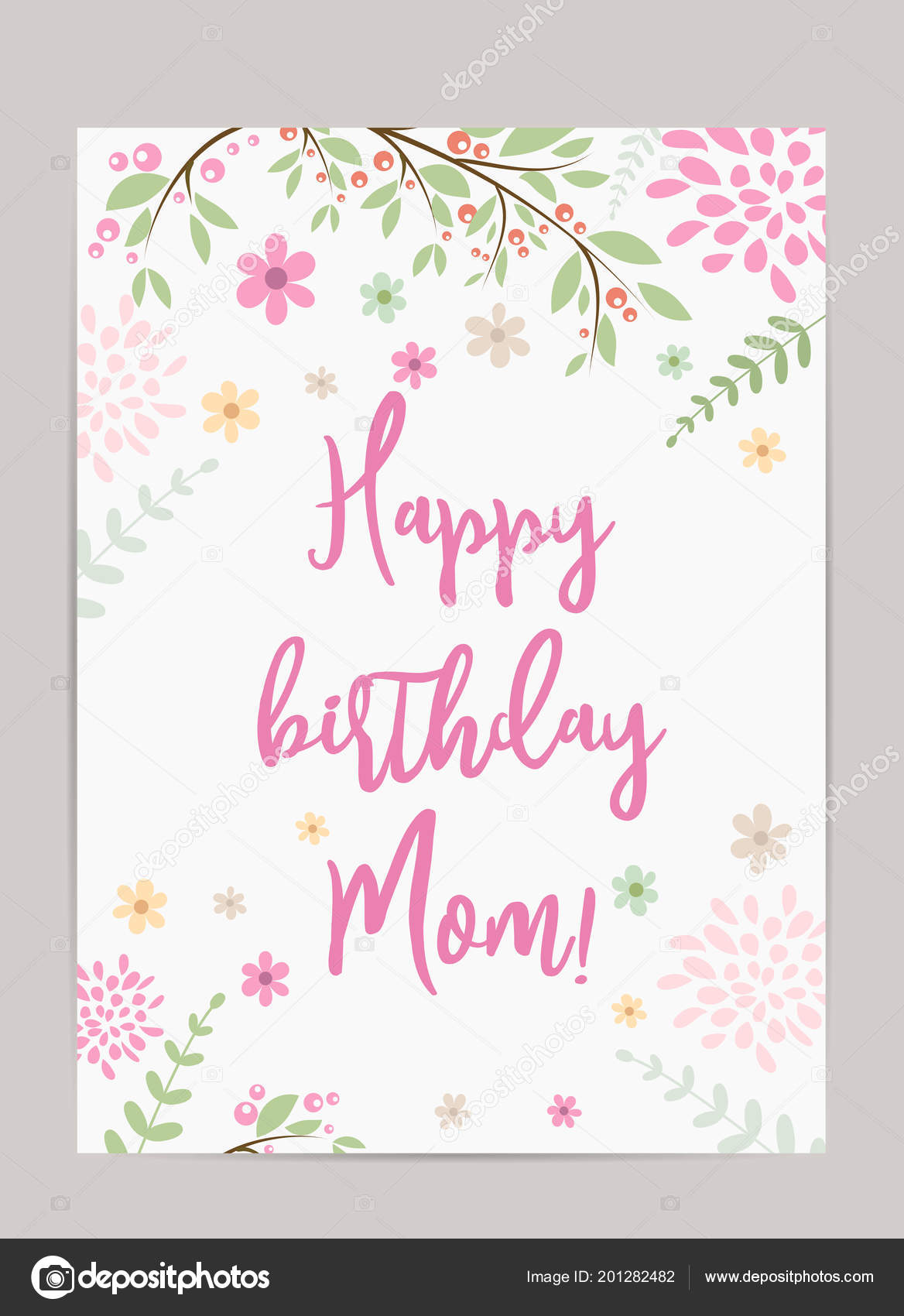 Joyeux Anniversaire Maman Contexte Vacances Gabarit Pour Carte Voeux