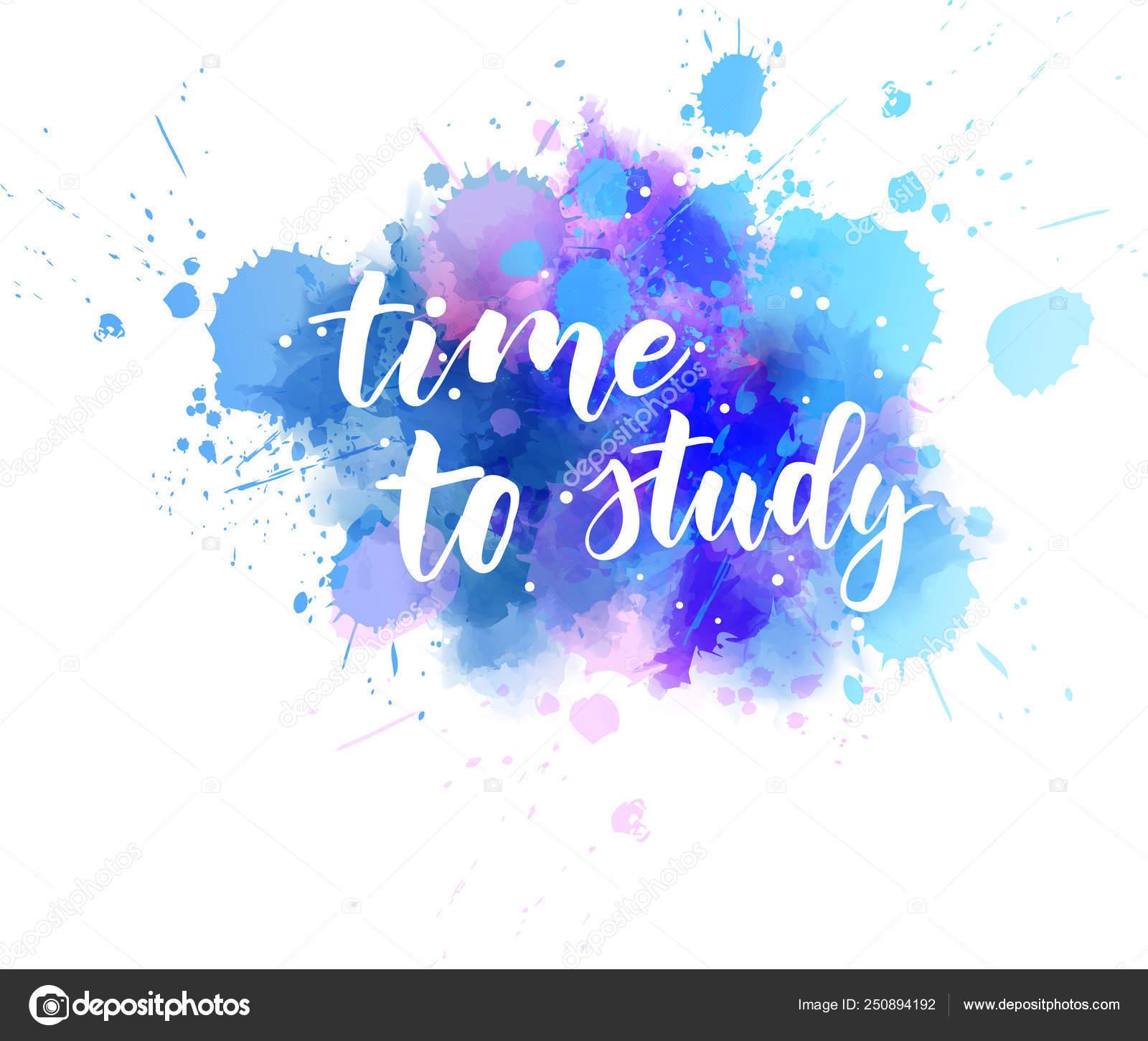 Tiempo Para Estudiar Mensaje Motivacional Vector De