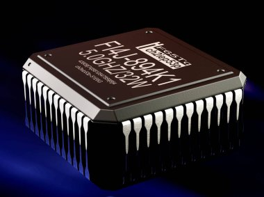 Integrated circuit digital computer parts technology. Micro chip artificial intelligence .