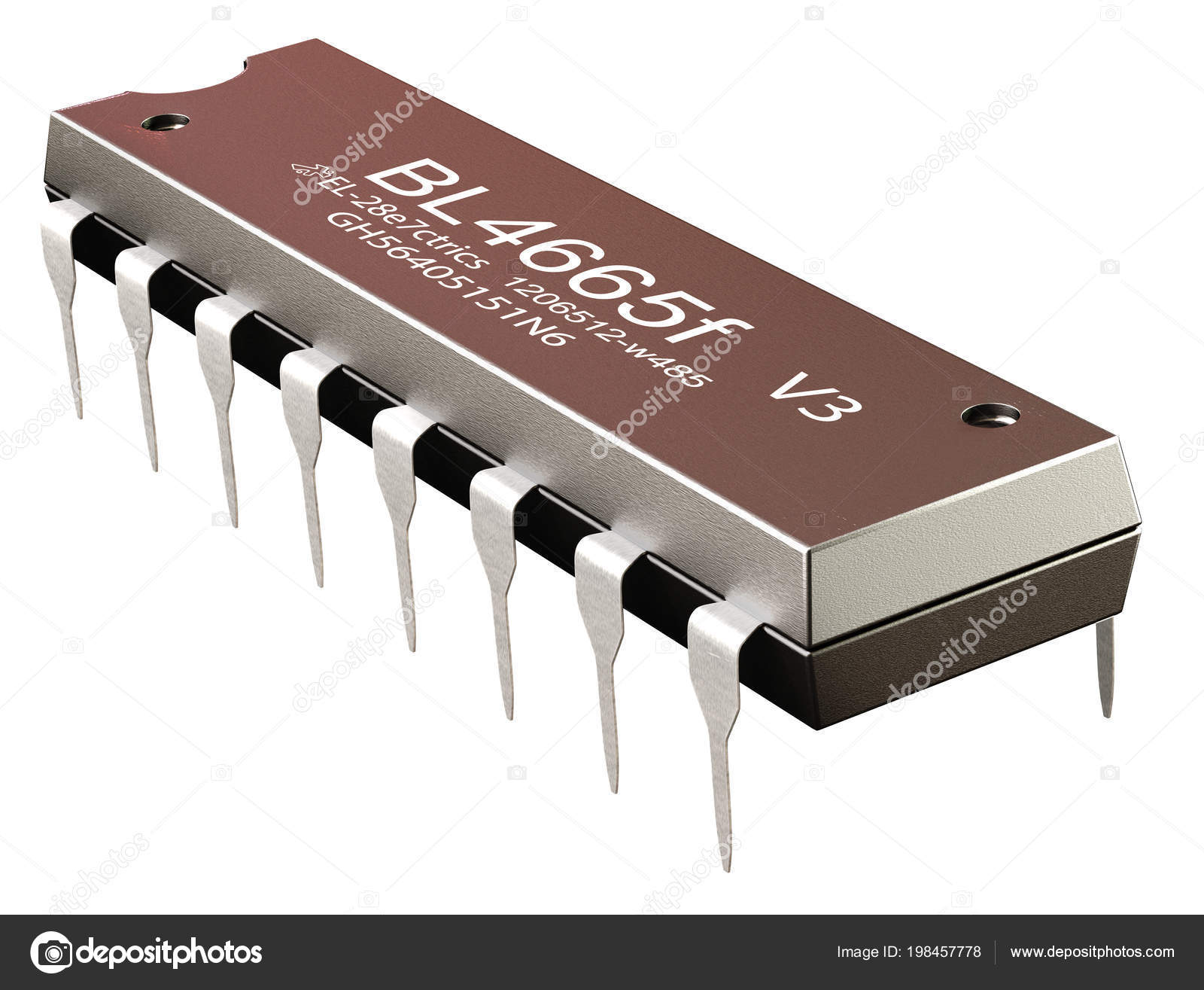 Integrated Circuit Or Micro Chip And New Technologies On Isolated What Is An Stock Photo