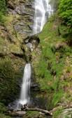 Alta cascata di Pistyll Rhaeadr in Galles