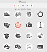 Fotografie cruise web icons for user interface design