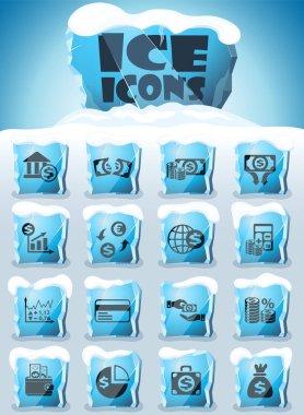 business finance icon set