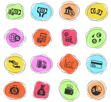 business finance web icons for user interface design
