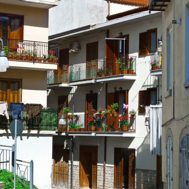 Italian Balconies Decorated with Fresh Flowers