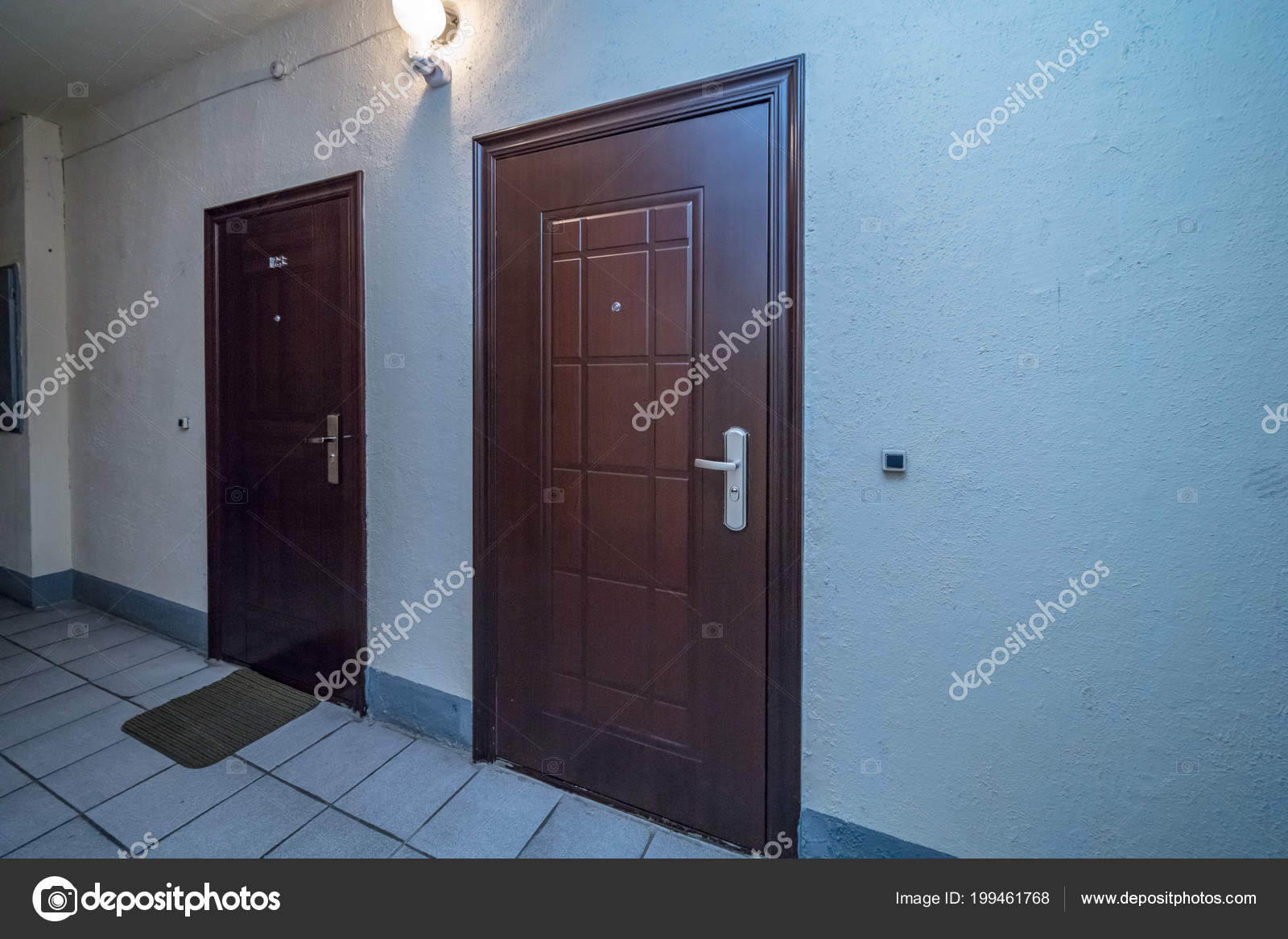Apartment building entrance doors | Residential Building ...