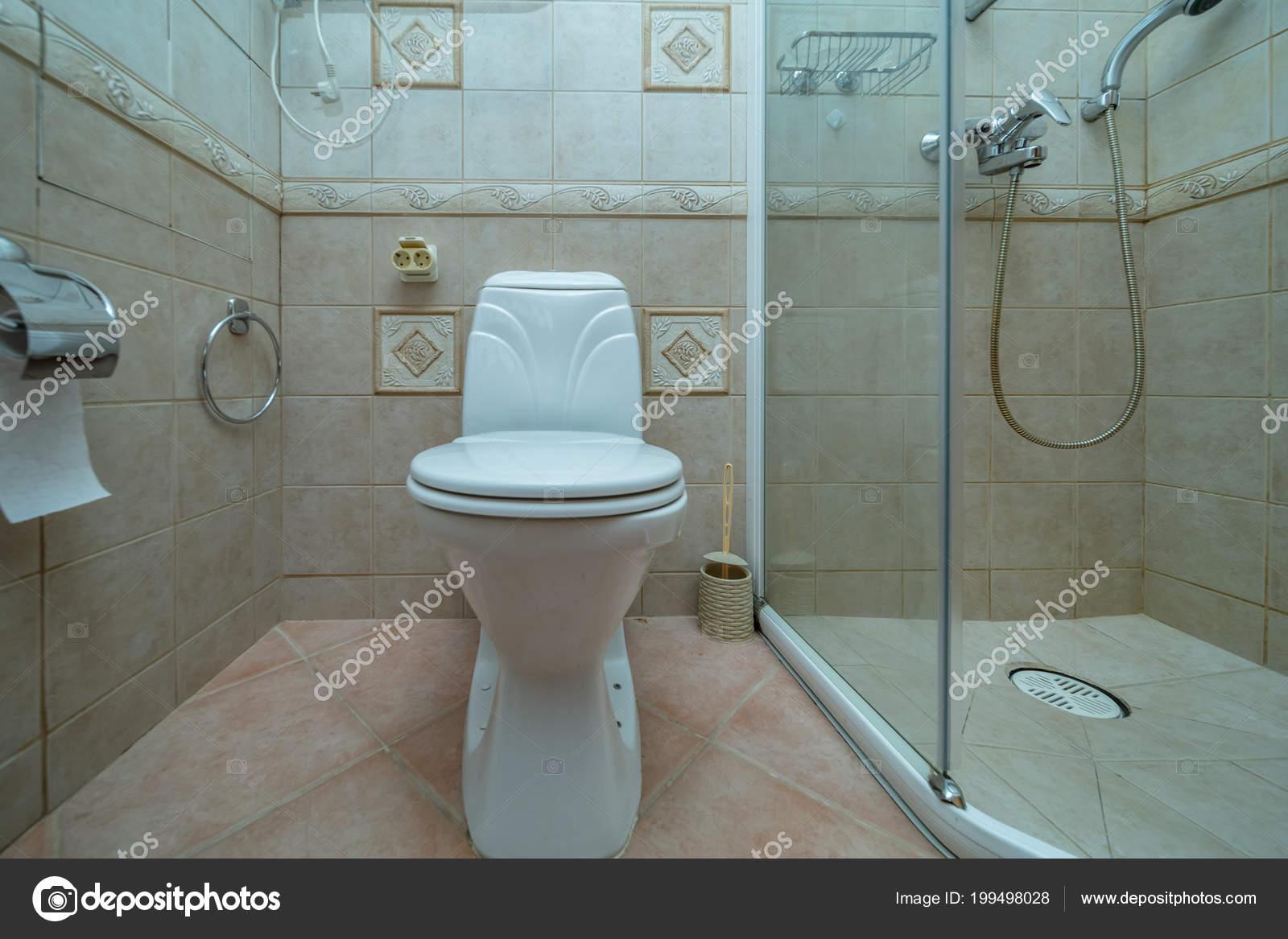 Cuvette Toilette Dans Petite Salle Bains Avec Douche Chambre Avec ...