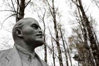 Bust of Vladimir Lenin in park