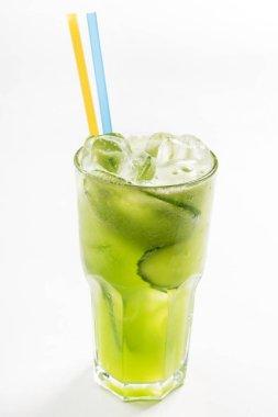 Summer lemonade, close up stock vector