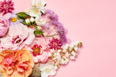 nice flowers on the pink background