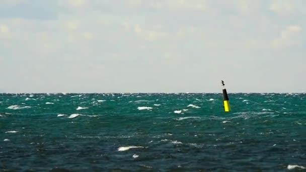 bóje mezi mořská bouře