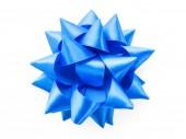 Fényképek kék íj elszigetelt fehér background. design elem