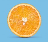 Fotografie fresh orange fruit isolated on a white background