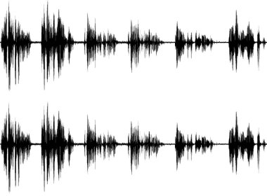 Sound wave isolated on white background stock vector