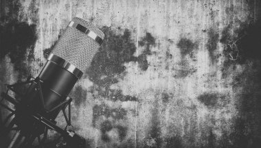 retro styled image of a microphone