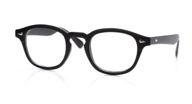 Round eyeglasses isolated on white background stock vector