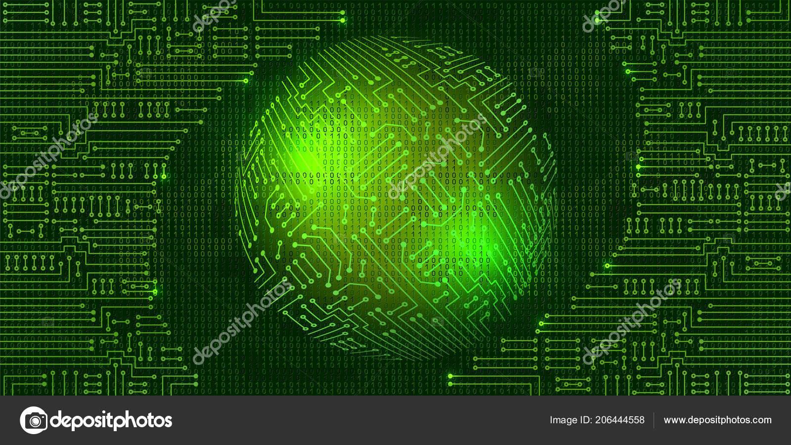 Kresba Moderni Elektronicky Obvod Binarni Kod Koule Stock Vektor