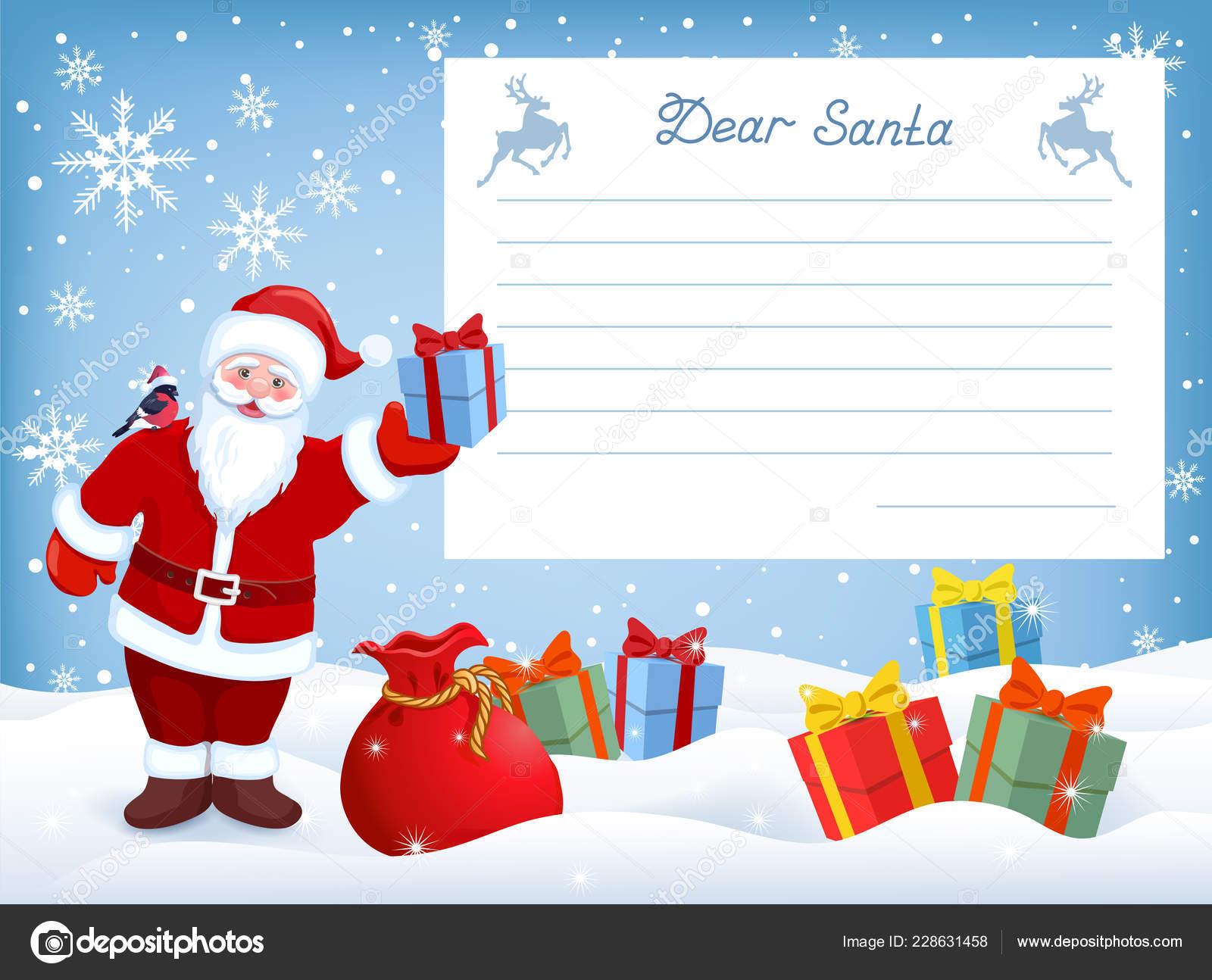Lettera A Babbo Natale Divertente.Fumetto Babbo Natale Divertente Con Lettera Casella Layout