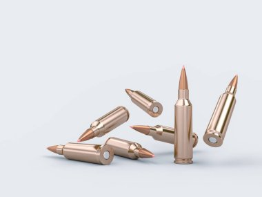 Rifle bullets background 3d rendering image stock vector