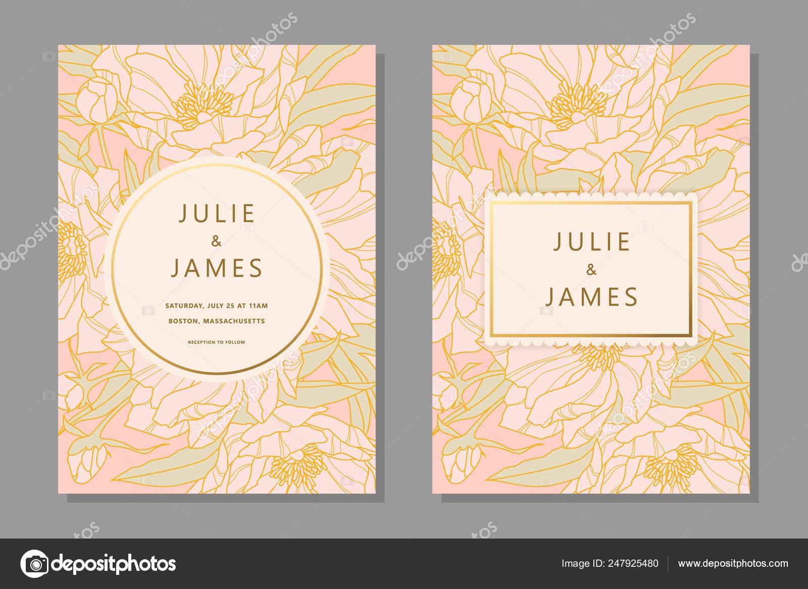 vintage wedding invitation set stock vector c greeek 247925480 https depositphotos com 247925480 stock illustration vintage wedding invitation set html