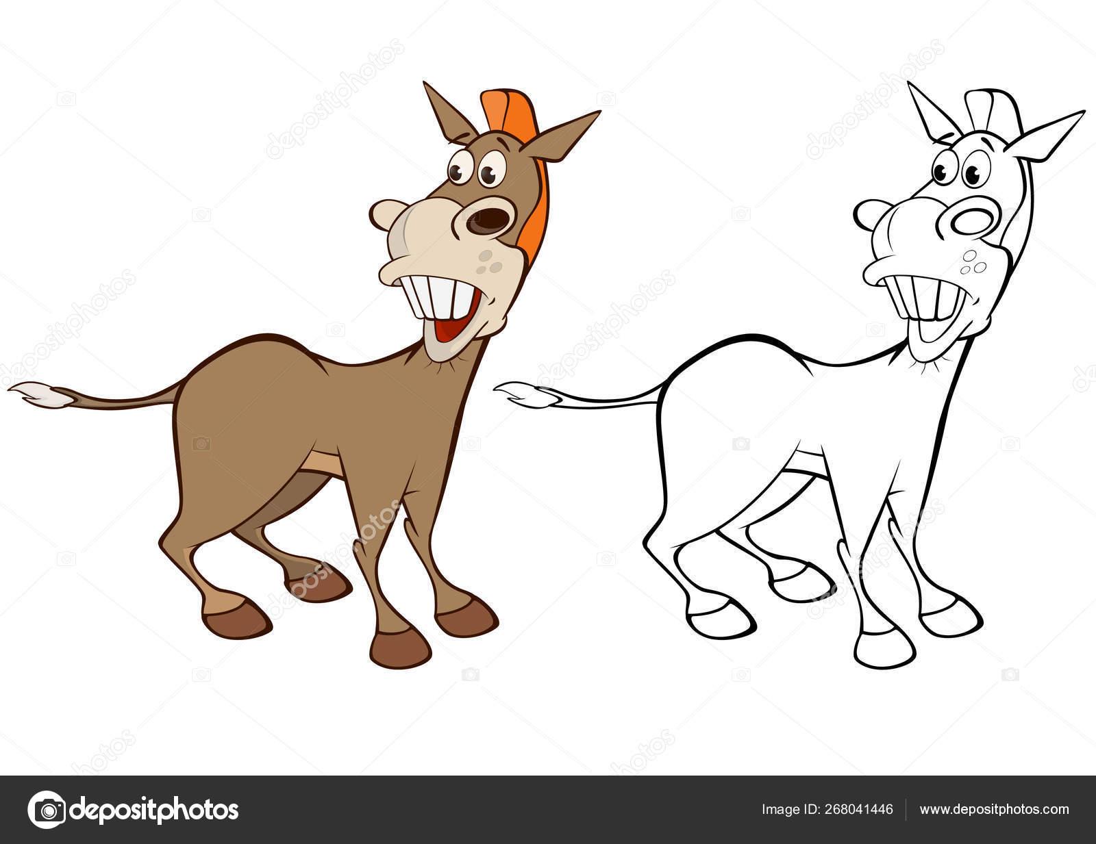 Funny burros — Stock Vector