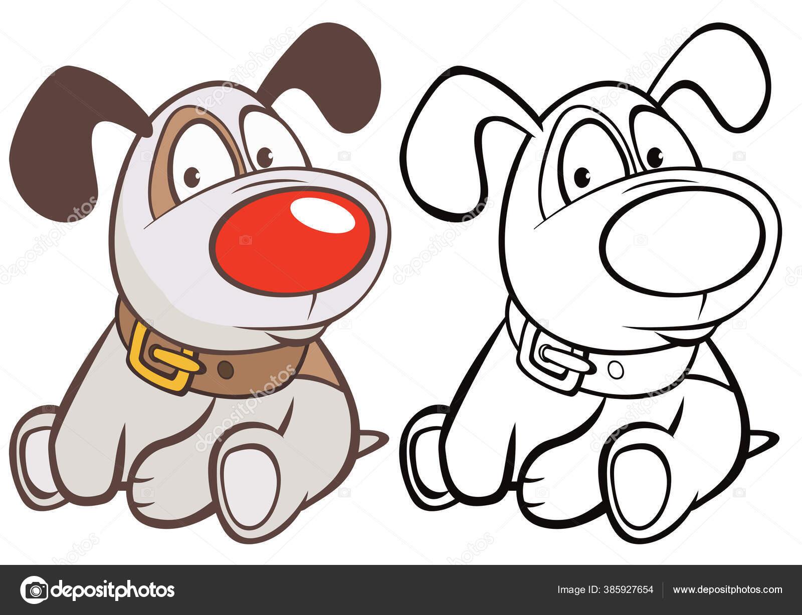 Vector Illustration Cute Cartoon Character Hunting Dog You Design Computer Stok Vektor C Liusaart 385927654