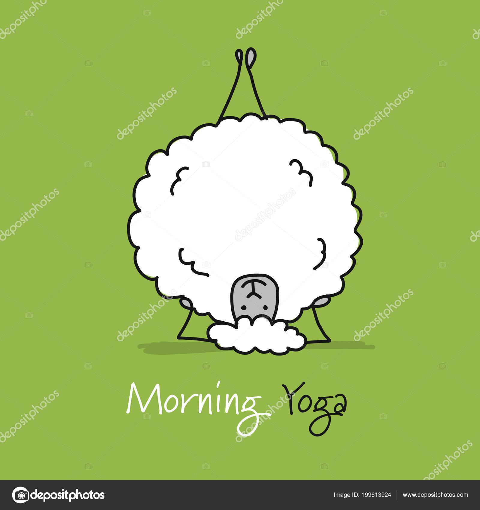 Lustige Schafe Machen Yoga Skizzieren Sie Fur Ihr Design